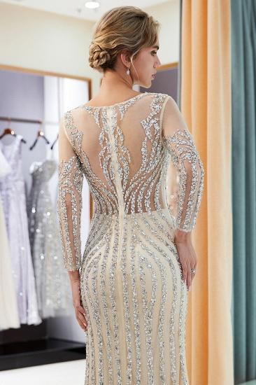 BMbridal Gorgeous Mermaid Jewel Long Prom Dresses Long Sleeves Evening Dresses with Rhinestones_17