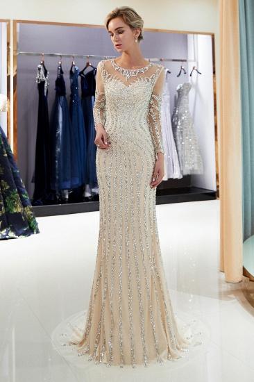 BMbridal Gorgeous Mermaid Jewel Long Prom Dresses Long Sleeves Evening Dresses with Rhinestones_14