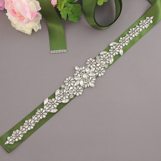 BMbridal Gorgeous Satin Beadings Wedding Sash_16