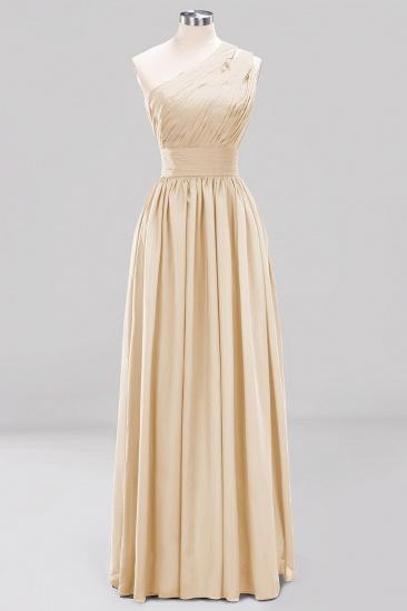 Stylish One-shoulder Sleeveless Long Junior Bridesmaid Dresses Cheap_14
