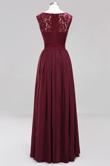 Vintage Sleeveless Lace Bridesmaid Dresses Affordable Chiffon Wedding Party Dress Online_6