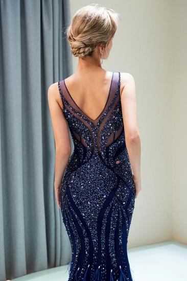 Glamorous Mermaid V-Neck Prom Dresses Sleeveless Long Evening Gowns with Rhinestones_11