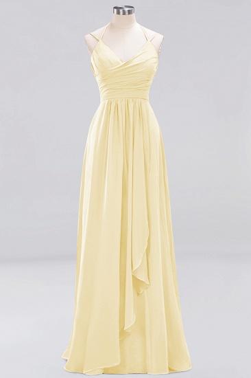 Affordable Chiffon Burgundy Bridesmaid Dress With Spaghetti Straps_17