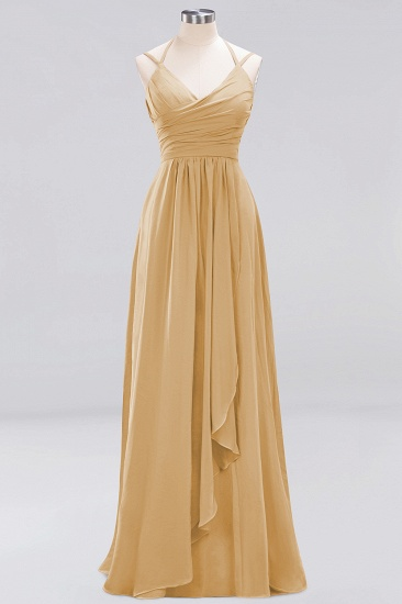 Affordable Chiffon Burgundy Bridesmaid Dress With Spaghetti Straps_13