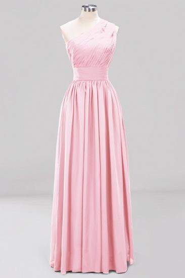 Stylish One-shoulder Sleeveless Long Junior Bridesmaid Dresses Cheap_4