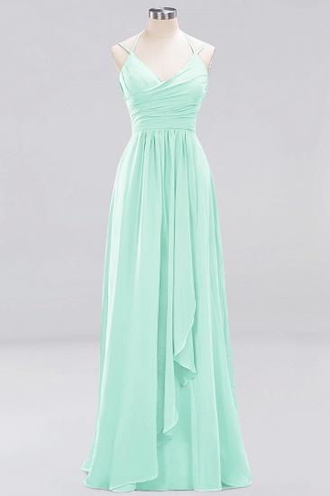 Affordable Chiffon Burgundy Bridesmaid Dress With Spaghetti Straps_34