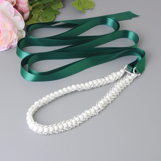 BMbridal Satin Beadings Wedding Sash with Pearls_13