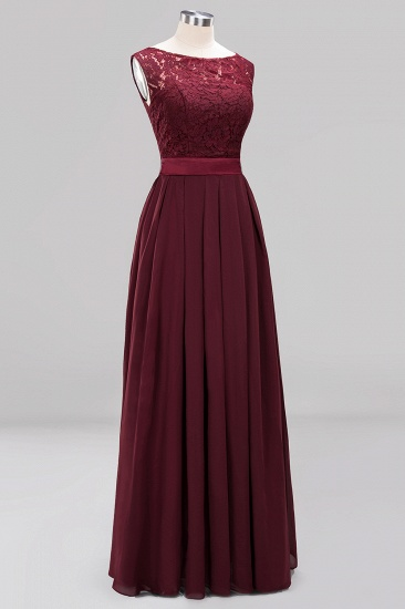 Vintage Sleeveless Lace Bridesmaid Dresses Affordable Chiffon Wedding Party Dress Online_65