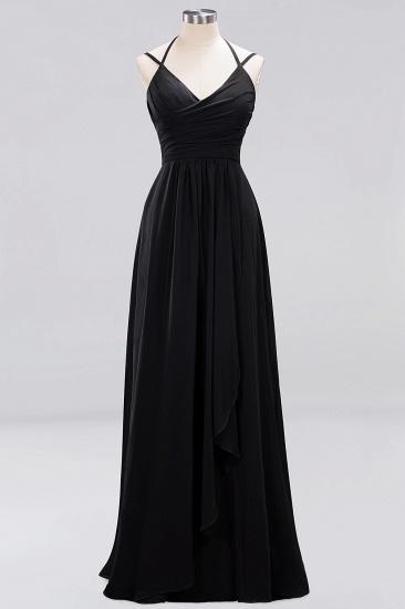 Affordable Chiffon Burgundy Bridesmaid Dress With Spaghetti Straps_28
