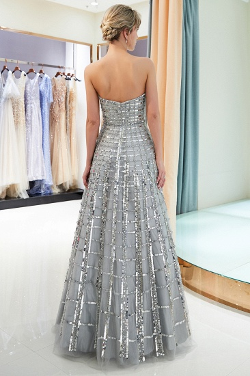 BMbridal Chic A-line Strapless Sequined Prom Dresses Chiffon Long Party Dresses On Sale_3