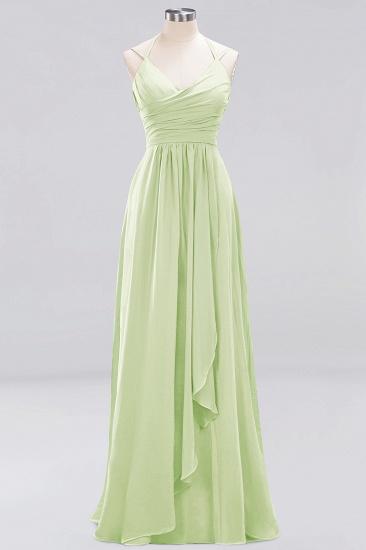 Affordable Chiffon Burgundy Bridesmaid Dress With Spaghetti Straps_33