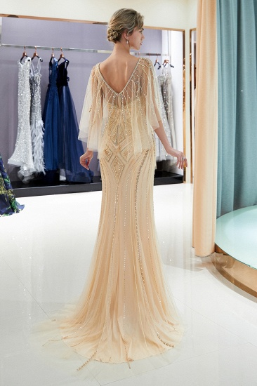 Affordable Mermaid Sweetheart Prom Dresses Illusion Neckline Sequins Beading Evening Dresses_13