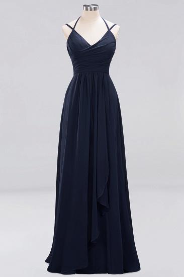 Affordable Chiffon Burgundy Bridesmaid Dress With Spaghetti Straps_27