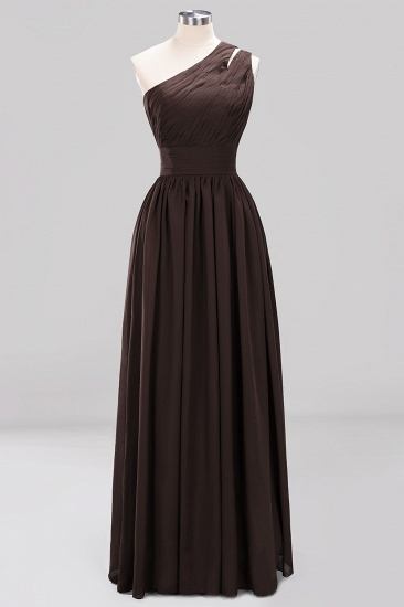 Stylish One-shoulder Sleeveless Long Junior Bridesmaid Dresses Cheap_11