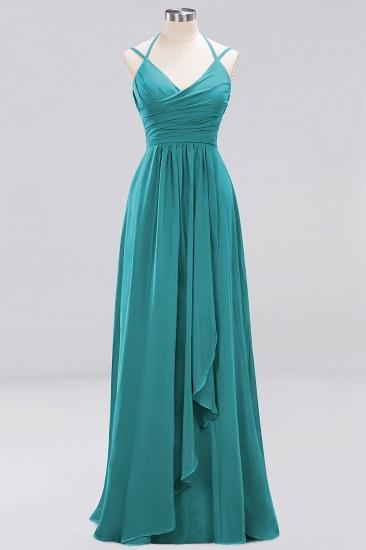 Affordable Chiffon Burgundy Bridesmaid Dress With Spaghetti Straps_31