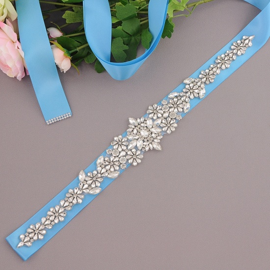BMbridal Gorgeous Satin Beadings Wedding Sash_11