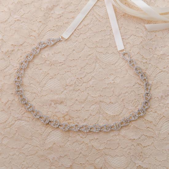 BMbridal Beautiful Satin Rhinestone Crystals Wedding Sash_2