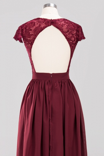 Elegant Lace Open-Back Long Burgundy Bridesmaid Dresses Online_8
