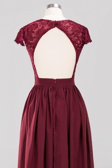 BMbridal Elegant Lace Open-Back Long Burgundy Bridesmaid Dresses Online_8