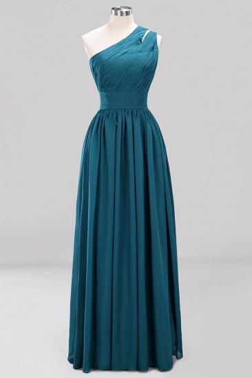 Stylish One-shoulder Sleeveless Long Junior Bridesmaid Dresses Cheap_27