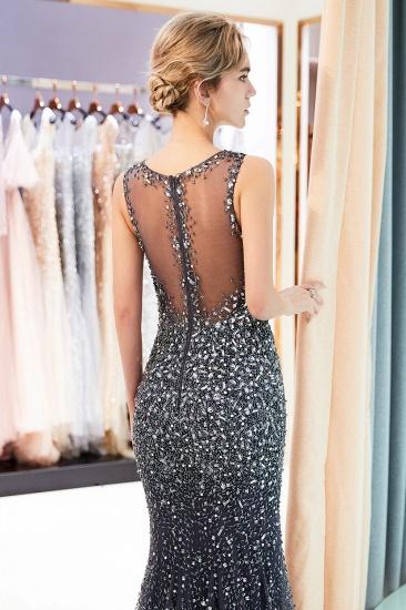 Glamorous V-Neck Rhinestones Prom Dress Long Mermaid Evening Gowns_17