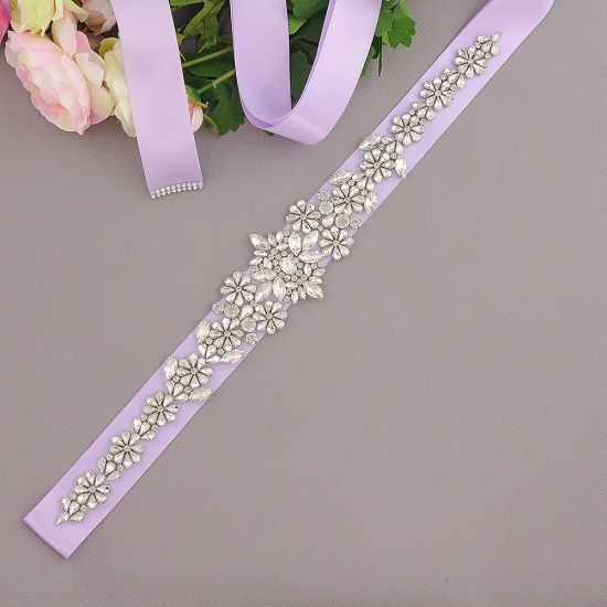 BMbridal Gorgeous Satin Beadings Wedding Sash_10