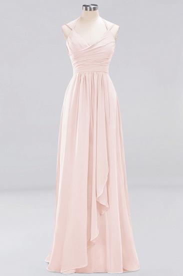 Affordable Chiffon Burgundy Bridesmaid Dress With Spaghetti Straps_5