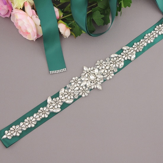 BMbridal Gorgeous Satin Beadings Wedding Sash_15