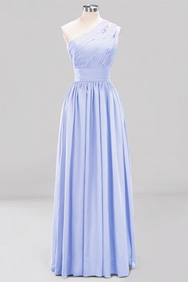 Stylish One-shoulder Sleeveless Long Junior Bridesmaid Dresses Cheap_22