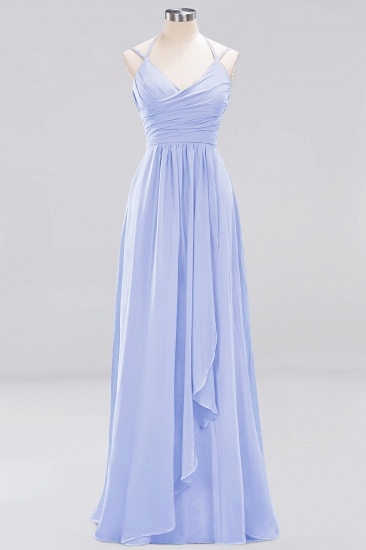 Affordable Chiffon Burgundy Bridesmaid Dress With Spaghetti Straps_21