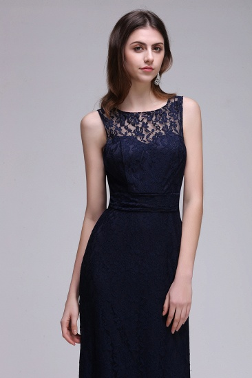 BMbridal Chic Sleeveless Scoop Lace Bridesmaid Dress with Keyhole Back_5