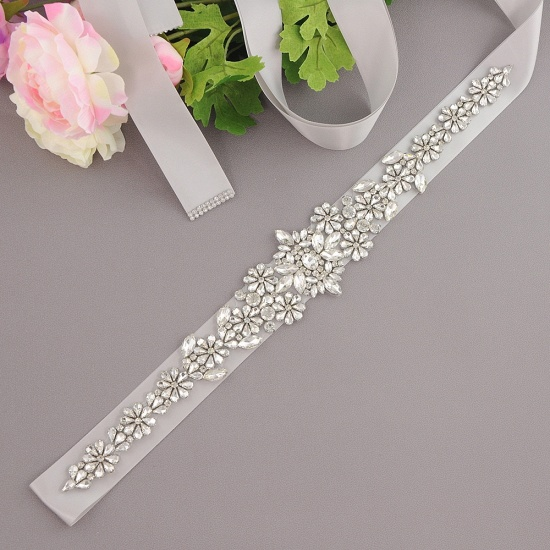 BMbridal Gorgeous Satin Beadings Wedding Sash_14