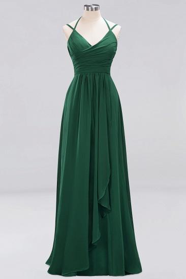 Affordable Chiffon Burgundy Bridesmaid Dress With Spaghetti Straps_30