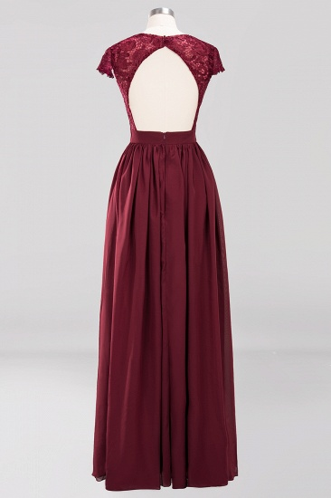 Elegant Lace Open-Back Long Burgundy Bridesmaid Dresses Online_5