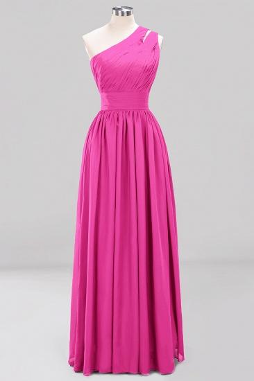 Stylish One-shoulder Sleeveless Long Junior Bridesmaid Dresses Cheap_9