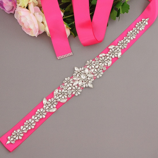 BMbridal Gorgeous Satin Beadings Wedding Sash_4