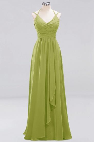 Affordable Chiffon Burgundy Bridesmaid Dress With Spaghetti Straps_32