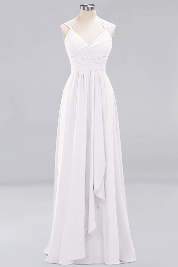 Affordable Chiffon Burgundy Bridesmaid Dress With Spaghetti Straps_1