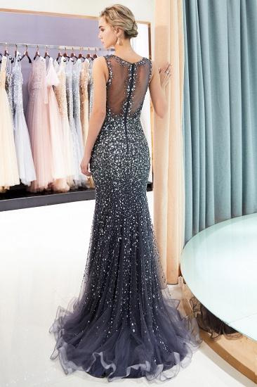 Glamorous V-Neck Rhinestones Prom Dress Long Mermaid Evening Gowns_18
