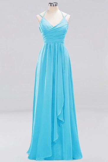 Affordable Chiffon Burgundy Bridesmaid Dress With Spaghetti Straps_23