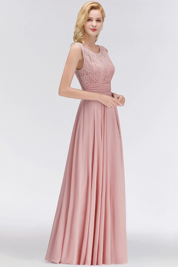 BMbridal Elegant Lace Jewel Sleeveless Dusty Rose Bridesmaid Dress Online_4