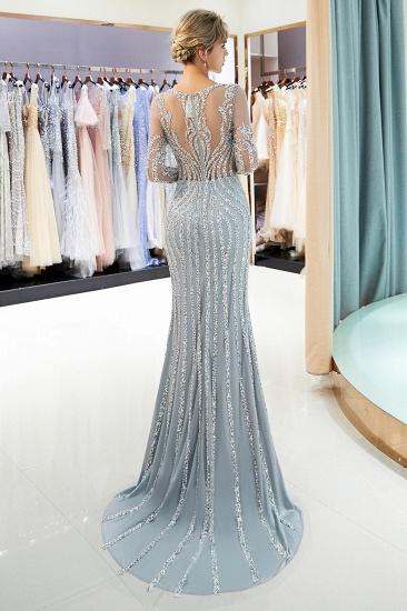 BMbridal Gorgeous Mermaid Jewel Long Prom Dresses Long Sleeves Evening Dresses with Rhinestones_4