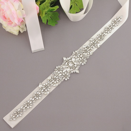 BMbridal Gorgeous Satin Beadings Wedding Sash_2