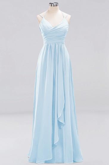 Affordable Chiffon Burgundy Bridesmaid Dress With Spaghetti Straps_22