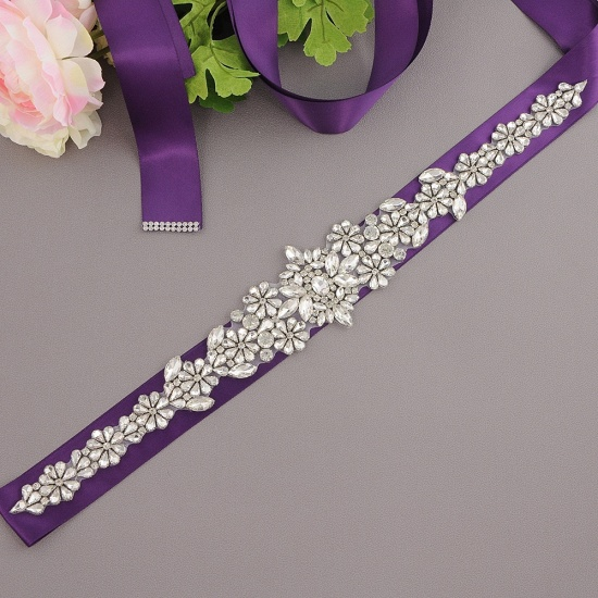 BMbridal Gorgeous Satin Beadings Wedding Sash_9