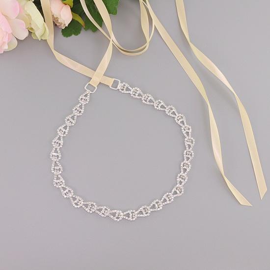 BMbridal Beautiful Satin Rhinestone Crystals Wedding Sash_3