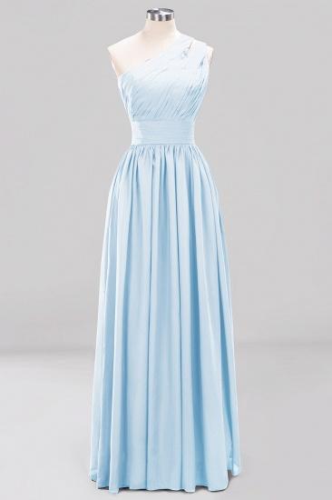 Stylish One-shoulder Sleeveless Long Junior Bridesmaid Dresses Cheap_23