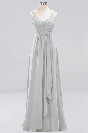 Affordable Chiffon Burgundy Bridesmaid Dress With Spaghetti Straps_29