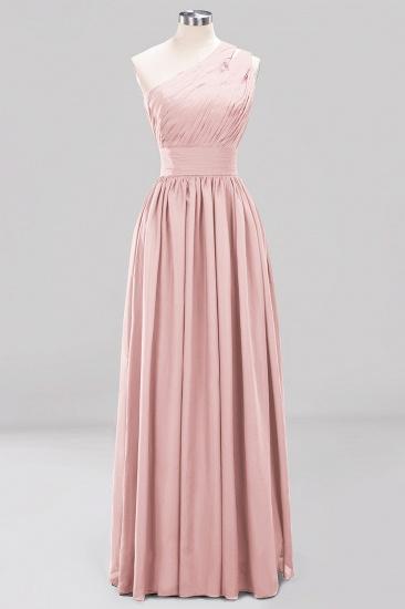 Stylish One-shoulder Sleeveless Long Junior Bridesmaid Dresses Cheap_6