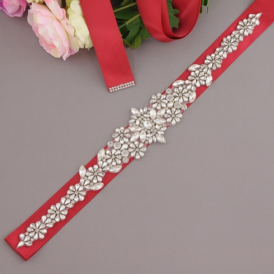 BMbridal Gorgeous Satin Beadings Wedding Sash_5